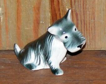 Vintage Glazed Bisque Scotty Scottie Dog Figurine