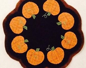 Pumpkin Wool Candlemat