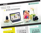 Custom Website Design with Wordpress - Blog Design - Photography
