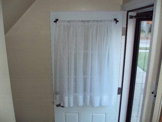 Back door front door window curtain extra wide by Extra wide front doors