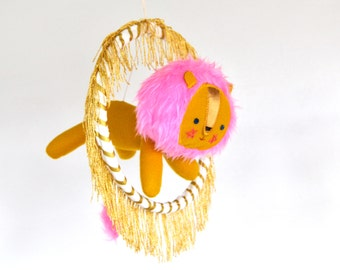 Majestic Hoop Jumping Lion Mobile
