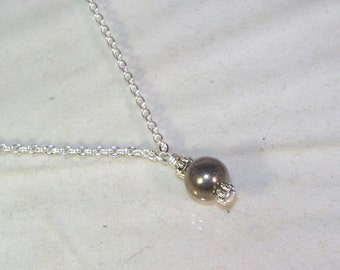 Gemstone Birthstone Necklace - Sterling Silver Filled Necklace - Pyrite Shown