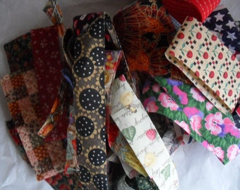 Vintage cotton Craft Ribbons and Scraps
