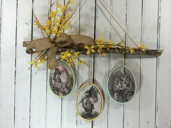 Easter Decor, Easter Home Decor, Wreath Alternative, Spring Wreath for ...