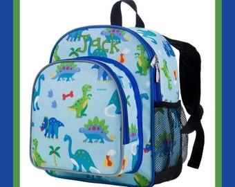 Monogram Backpack and Lunch Bag - Wildkin - Dinosaur - Preschool Day Pack Back to School