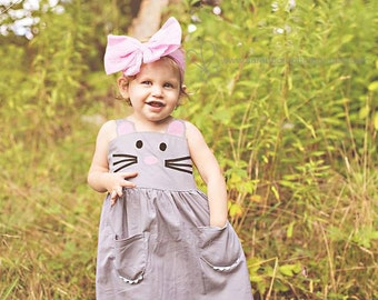 Hand Felted Big Bodacious Bow Merino Head Band Pale Pink 6mos plus