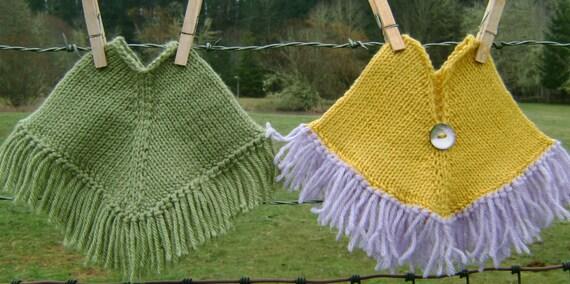 Knitting Pattern Doll Poncho : Peppermint Poncho Knitting Pattern for Dolls