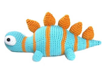Crochet PATTERN: Stegosaurus Plush -pdf-