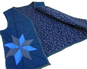 Vintage Artisan, Hand Quilted Patchwork Vest