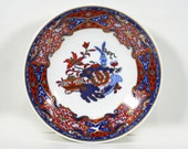 Vintage Spode Bowl, Small Bowl, Red, Blue and Gold, Asian Inspired, Hand Painted