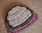 Instant download - Crochet PATTERN (pdf file) -  Tiered Hat (baby to adult)