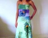 Peacock tube dress convertible dress very versatile
