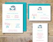 Printable Wedding Invitations . DIY Wedding Invitation . Invitation File . Wedding Invitations . Beach Wedding .  PDF  - Destination Wedding