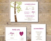 Outdoor Wedding Invitations . Country Wedding Invites . Rustic Wedding Invitations . Wedding Invitations . Oak Tree  - Love You Forever
