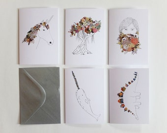 Pack of 5 Magical Greeting Cards