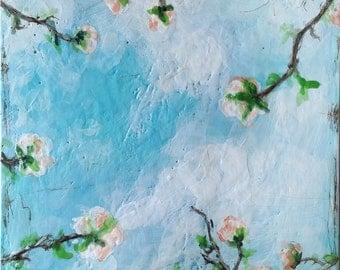 Bright days are coming II - original encaustic painting