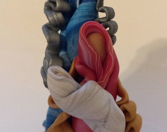 Polymer Clay  HOLY FAMILY Christmas Ornament