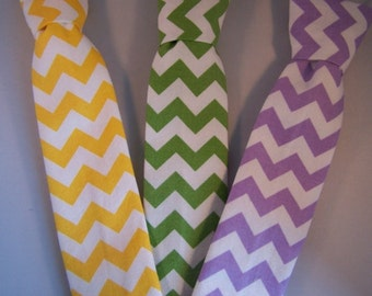 Chevron Neckties Boys, Baby, Toddler Yellow, Lavender, Orange