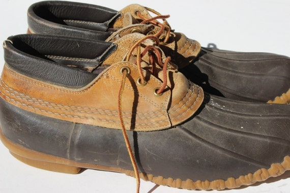Bean boots vintage ll bean maine hunting shoe by thegypsygoat for Ll bean fishing