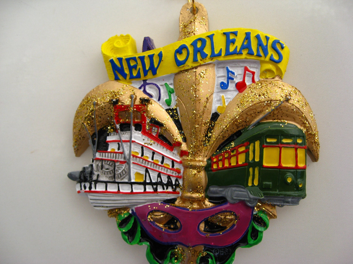 New Orleans Christmas Ornament Fleur de Lis by CopperFancy ...