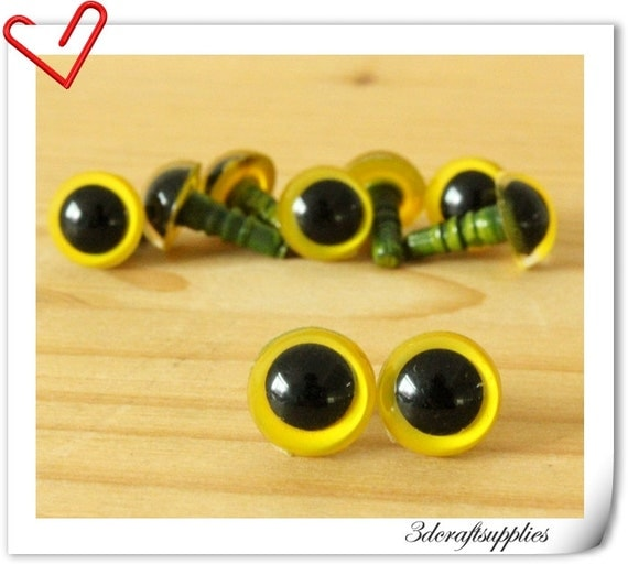 9mm Yellow Safety eye amigurumi eye doll eyes cat by ...