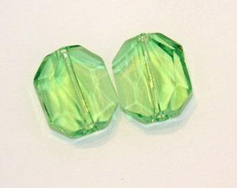 Swarovski Crystal 18mm Graphic bead in peridot  discontinued DESTASHING Carol Wall 2 pcs. available