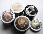 Ear Bud / Pill Case in Assorted Etched Designs - Acid Bath Series