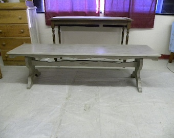 Vintage Painted Long Coffee Table or Bench