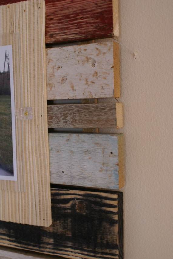 Distressed wood frame reclaimed wood frame barn wood for Where to find reclaimed wood for free