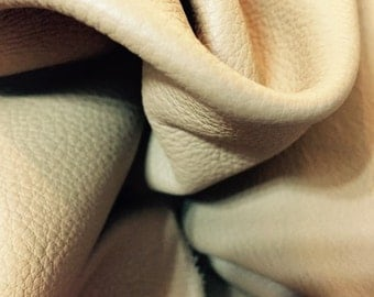 A gorgeous super soft Cow hide leather in Beige-tan color - a full 11 square foot hide