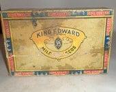 Vintage King Edward Cigar Box - Old Cigar Box - A Swisher Product - 6 Cent Cigar Box - King Edward Imperial Cigar Box