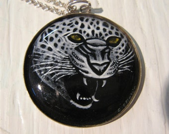 Grisaille Enamel Jaguar