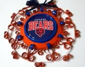 Chicago Bears Recycled Quilled Aluminum Can Ornament