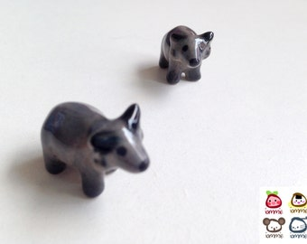 Miniature animal figure, figurine, buffalo, mini animal, ceramic animal, tiny animal, small animal, little animal, decoration, miniature