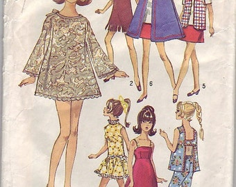 1969 Simplicity 8466 Barbie wardrobe pattern