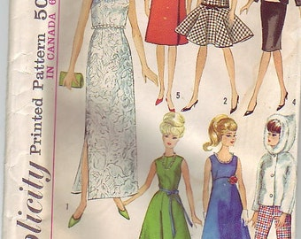 1965 Simplicity 6208 doll clothes pattern