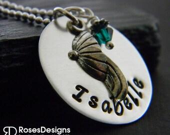 Personalized Baseball Necklace, Softball Necklace, Baseball hat, softball hat, sports jewelry, Handstamped Necklace