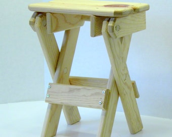Small Pine Folding Table , Handcrafted