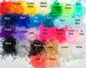 "1 Curly Ostrich Puff 4"" or 2"" you choose 32 colors"