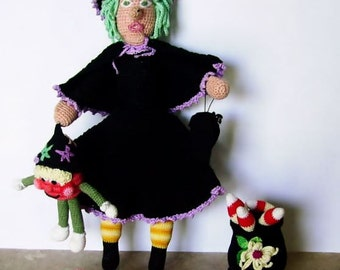 Buy Bonnie's  Crochet Halloween Witch and Friends Ensemble @ cyicrochet