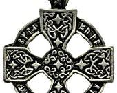 Celtic Cross Moon Goddess Amulet large Symbolic Pendant