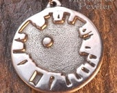 Stonehenge - Pewter Pendant - Looking up at the Sky with the Stones surrounding You - Celtic, Druidic, Sacred Sites Necklace