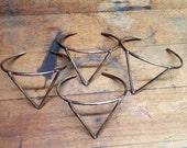 All brass triangle cuff bracelet