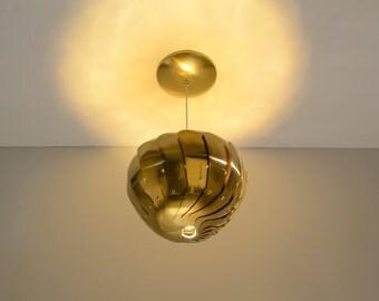 "Iris Pendant Light - 8"" Brass, LED, On Sale, 30% Off"
