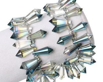 Crystal Teardrop - Set of 6 beads