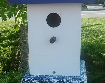 Chickadee Bird House, Painted Birdhouse, Handcrafted Bird Houses, Cottage Chic Bird Houses, Garden Gifts