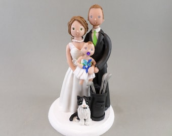 Cake Topper Personalized Family