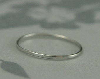 Thin Platinum Ring~Super Skinny Minnie~1mm by .5mm~Women's Platinum Ring~Women's Wedding Ring~Thin Platinum Band~Platinum Wedding Band