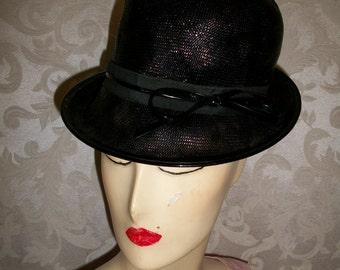 VIntage  1950s Black Hat