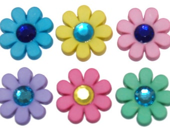 Pocket Full of Posies Buttons set of 6, Dress it Up Buttons, Flower Buttons